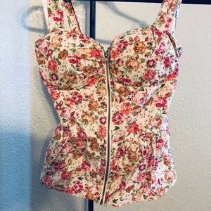 Floral top women's juniors clothing clothes